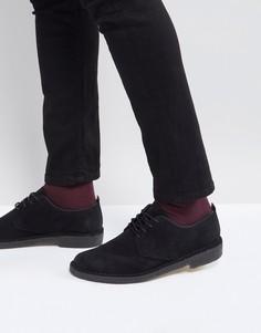 Замшевые туфли Clarks Originals Desert London - Черный