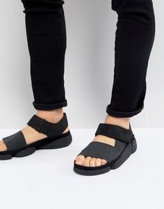 Кожаные сандалии Clarks Originals Trigenic Evo - Черный