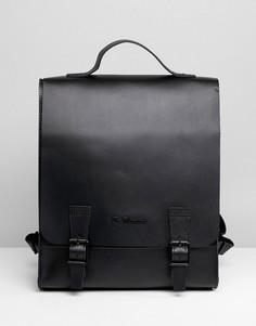 Прямоугольный рюкзак из зернистой кожи Dr Martens - Черный