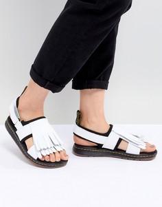 Кожаные сандалии с кисточками Dr Martens Rosalind - Белый