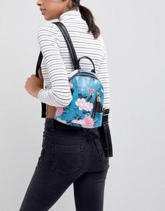 Сине-зеленый рюкзак с цветочным принтом Typo - Мульти