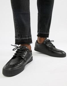 Кроссовки с круглым носком T.U.K Vegan EZC - Черный TUK