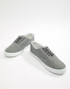 Серые кеды на шнуровке New Look - Серый