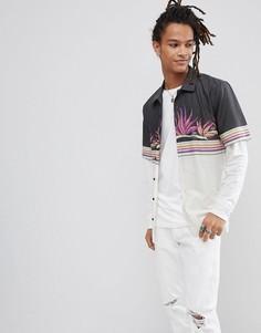 Рубашка с пальмовым принтом Volcom - Черный