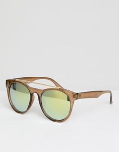 Круглые солнцезащитные очки с зеркальными стеклами Jeepers Peepers - Очистить