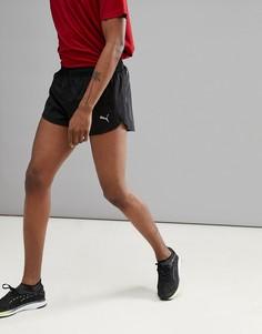 Черные шорты с разрезом Puma Running 51501201 - Черный