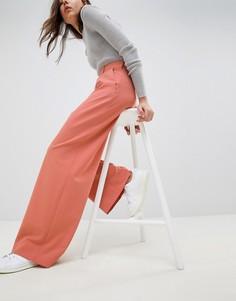 Широкие брюки с защипами ASOS DESIGN - Оранжевый
