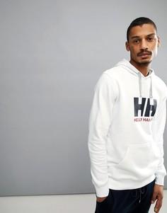 Худи белого цвета с логотипом Helly Hansen - Белый