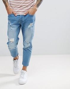 Укороченные джинсы Solid - Синий