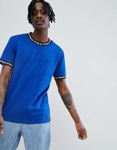 Синяя футболка с контрастной отделкой DC Shoes - Темно-синий