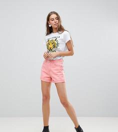 Джинсовые шорты с отворотом Vero Moda Tall - Розовый