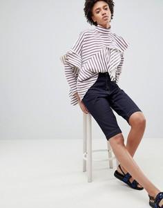Джинсовые шорты ASOS WHITE - Синий