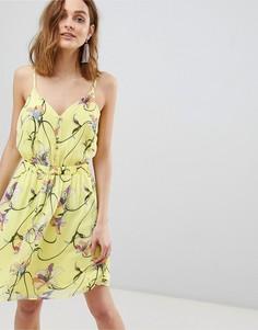 Платье мини с цветочным принтом Vero Moda - Мульти
