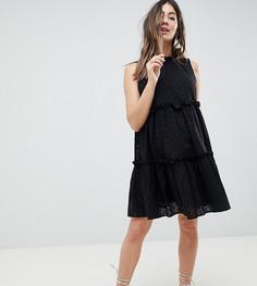 Платье-трапеция без рукавов с вышивкой ришелье ASOS Maternity ULTIMATE - Черный