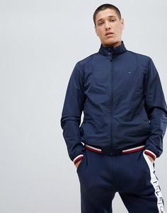 Темно-синяя куртка с полосатой отделкой Tommy Hilfiger Sports Capsule - Темно-синий