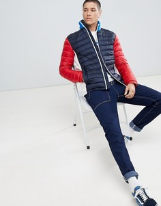 Складывающаяся дутая куртка в стиле колор блок Tommy Hilfiger Sports Capsule - Мульти