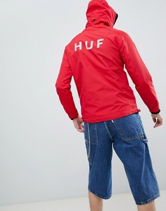 Красная куртка с принтом на спине HUF - Красный