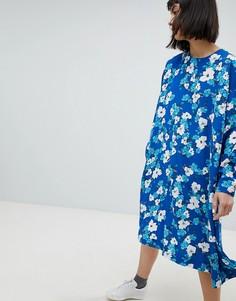 Платье-трапеция с цветочным принтом Weekday - Мульти