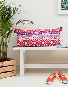 Подушка с вышивкой Bombay Duck Picado - 80 x 36 см - Мульти