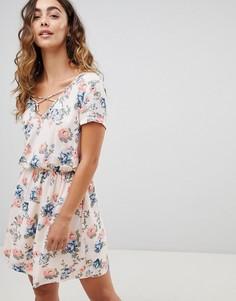 Платье мини с цветочным принтом Pepe Jeans Deborah - Белый