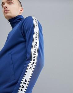 Темно-синяя спортивная куртка с отделкой кантом Peak Performance Tech Club - Темно-синий