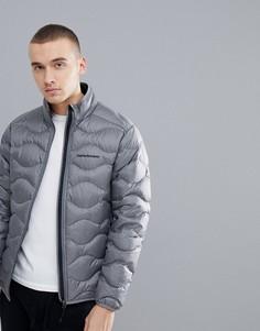 Серая меланжевая дутая куртка Peak Performance Helium - Серый