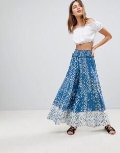 Пляжные брюки-палаццо с принтом тай-дай Surf Gypsy - Мульти