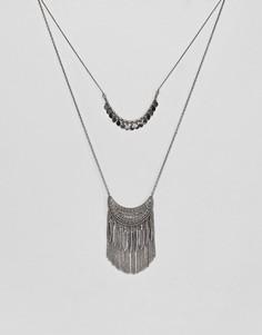 Ярусное фестивальное ожерелье Pieces - Серебряный