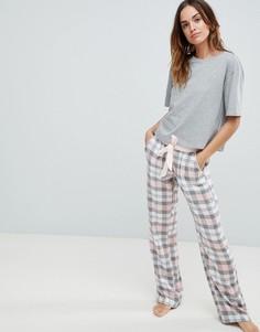 Комбинируемые пижамные брюки в клетку ASOS DESIGN - Мульти
