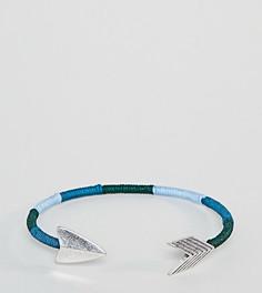 Синий браслет с отделкой в виде стрелы Reclaimed Vintage Inspired эксклюзивно для ASOS - Синий