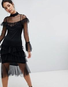 Платье с длинными рукавами Hope & Ivy - Черный