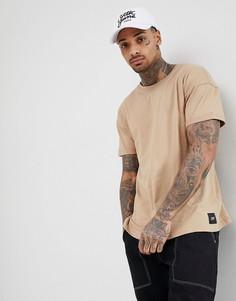 Светло-бежевая oversize-футболка Sixth June - Светло-бежевый