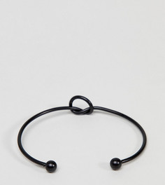 Черный браслет с декоративным узлом DesignB эксклюзивно для ASOS - Черный