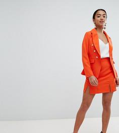Юбка с разрезами Missguided Petite - Оранжевый