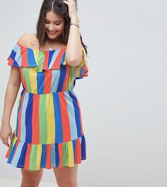 Летнее платье в полоску ASOS DESIGN Curve - Мульти