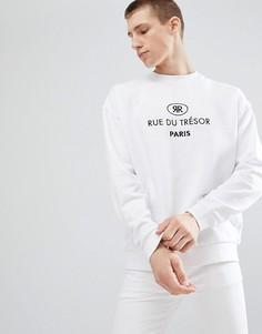 Белый свитшот с вышивкой ASOS DESIGN - Белый