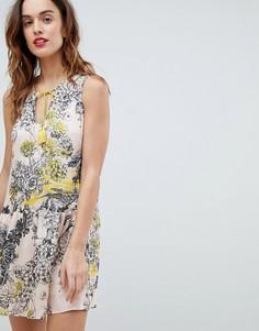 Платье с принтом Sisley - Розовый