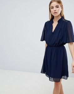 Темно-синее платье с короткими рукавами Angel Eye - Темно-синий