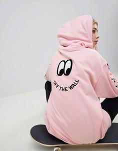 Худи с принтом на спине Vans X Lazy Oaf - Розовый