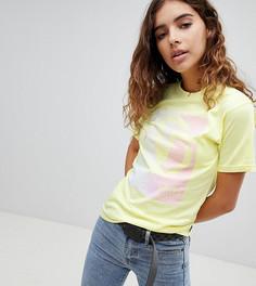 Желтая oversize-футболка Vans - Желтый