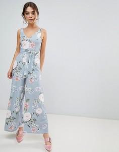 Комбинезон с цветочным принтом New Look - Синий