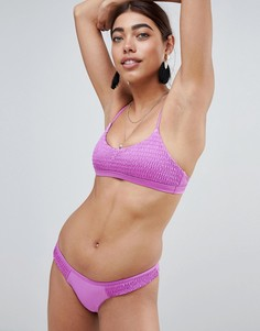 Присборенные плавки-бикини River Island - Фиолетовый