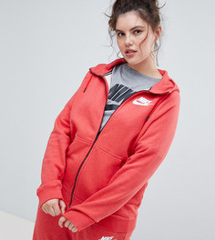 Красный худи на молнии Nike Plus Rally - Красный
