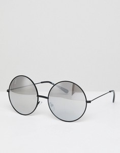 Круглые солнцезащитные очки AJ Morgan - Серебряный