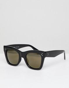 Солнцезащитные очки в толстой квадратной оправе AJ Morgan - Черный