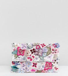 Клатч с клапаном и декоративной отделкой Accessorize Francesca - Мульти