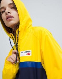 Желтая ветровка колор блок New Balance - Желтый