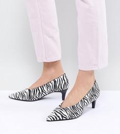 Туфли на каблуке-рюмочке с зебровым принтом Monki - Мульти