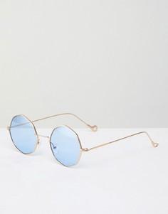 Восьмиугольные солнцезащитные очки AJ Morgan - Золотой