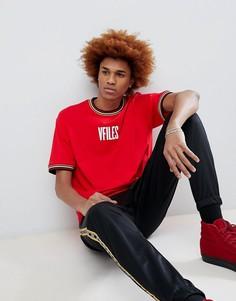 Красная футболка с логотипом VFILES - Красный